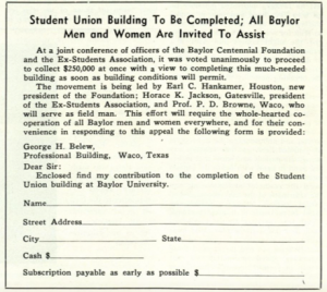 Union Bldg Pledge