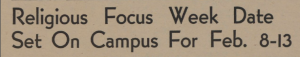 Religious Focus Week Date Courtesy of the Texas Collection, Baylor University