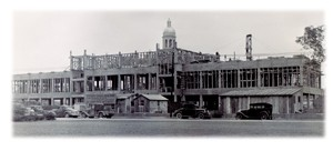 Construction of Student Union Building. Courtesy of the Texas Collection.