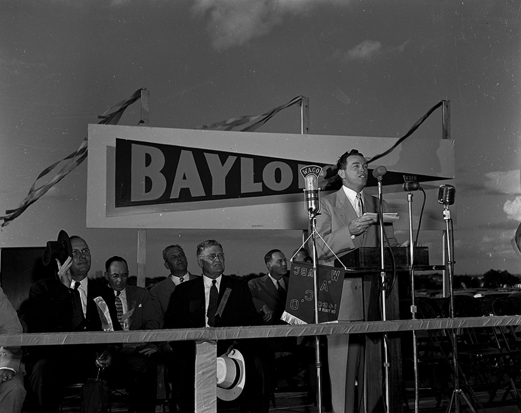 "Groundbreaking Ceremony of the ""new"" Baylor (Floyd Casey) Stadium, 1949 (3), Courtesy of The Texas Collection"