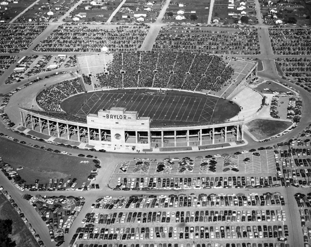 Aerial of Baylor (Floyd Casey) Stadium-Bears vs. Texas A&M, 1950 (3), Waco, Texas, Courtesy of The Texas Collection