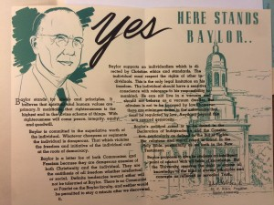 Here Stands Baylor Courtesy of the Texas Collection, Baylor University
