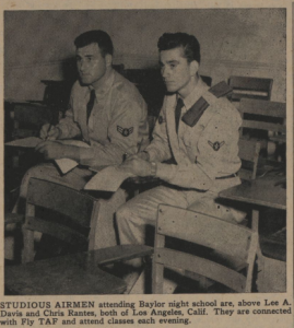Veterans Attending Night Courses Photo, Courtesy of the Texas Collection