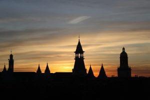 Baylor University at sunset