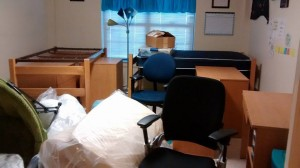 Our room after two hours of packing