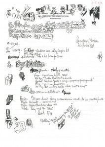 Hyde Murray, October 29, 1969 - Doodle Notes