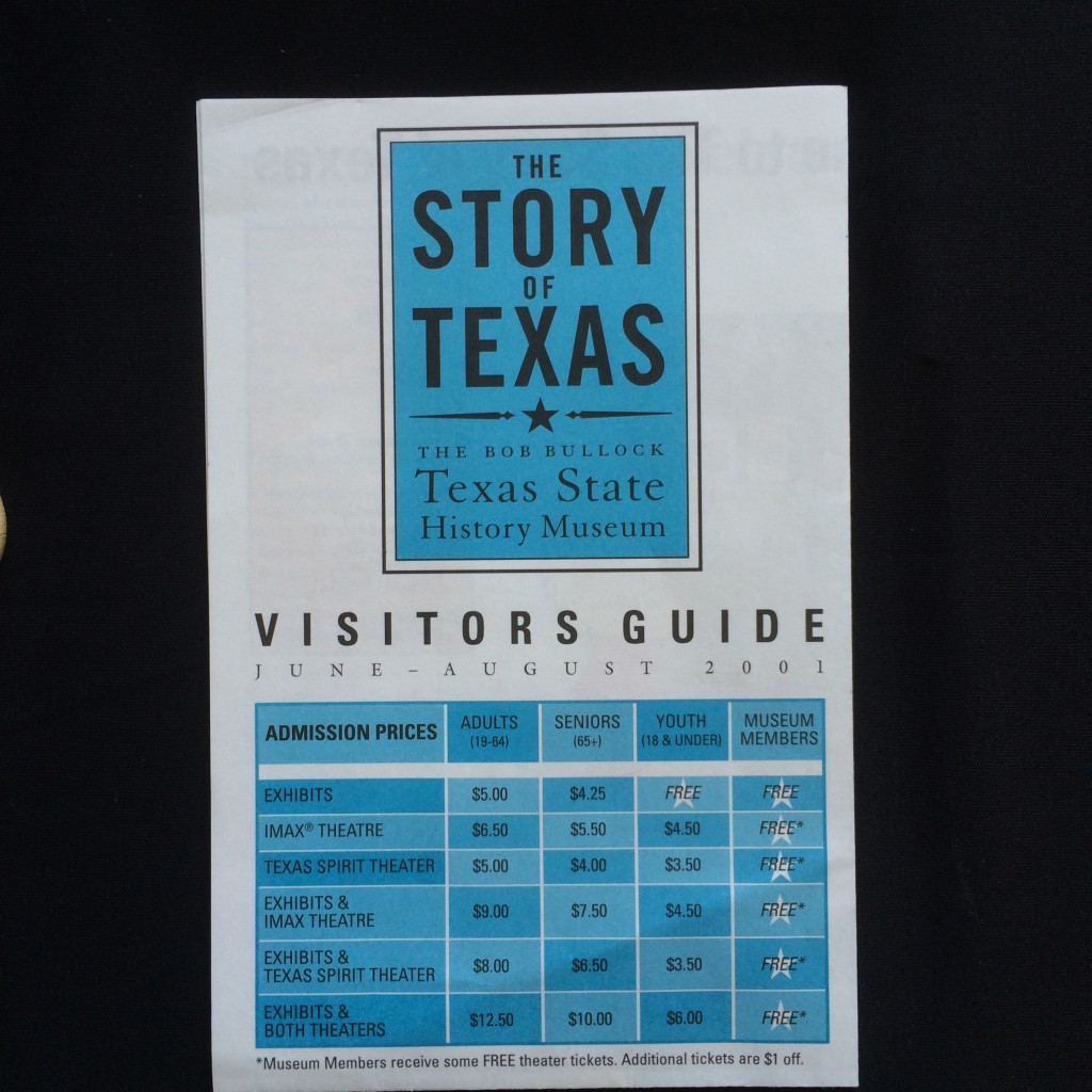 A 2001 vistor's guide for the summer of the museum's opening.