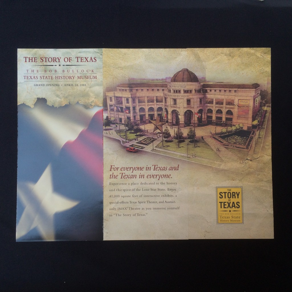 A brochure advertising the museum's opening.