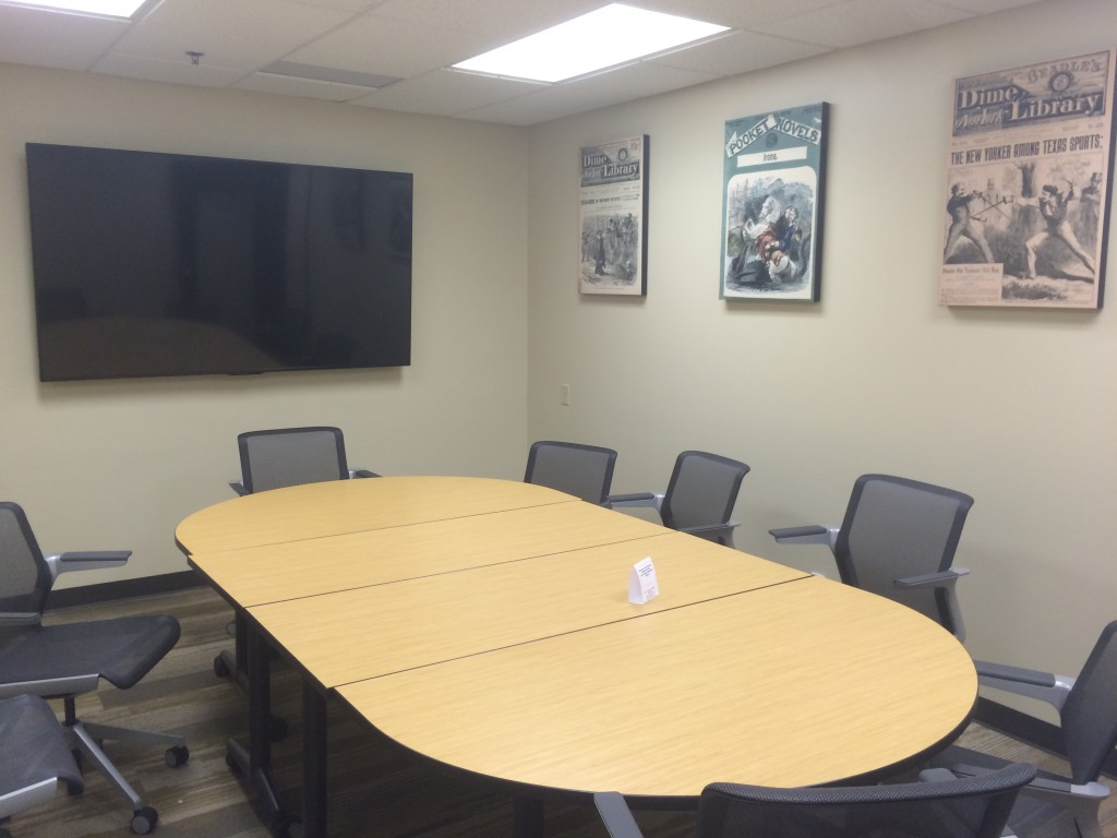 Collaboration and Consultation rooms are reservable on the GRC website.