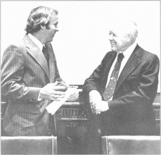 """Fowler C. West and Congressman W.R. """"Bob"""" Poage."""