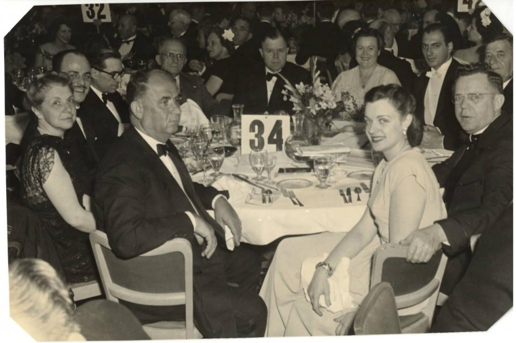 Mr. and Mrs. Poage (at rear of table) at a Congressional dinner.