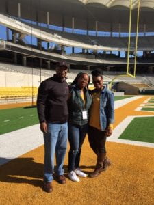 Photo of Kayla and her parents