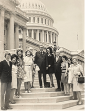 Photo of O.C. Fisher's staff in front of the U.S. Capitol