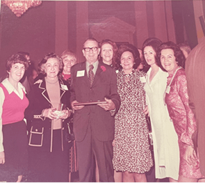 Photo of O.C. Fisher and staff at his retirement