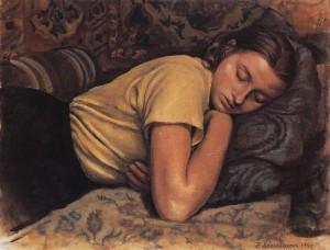 sleeping katya 1945