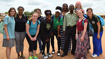 2016 Baylor Ghana Mission Trip Team