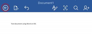 exit doc in office iOS