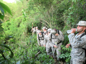 Cadet Crenshaw's team hikes through the hot Thai jungle, exploring far outside the capitol of Bangkok.