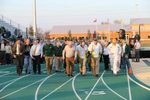 Track stadium dedication