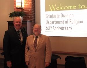 Religion 1-President Starr & Dr. Bill Bellinger, Religion Department Chair