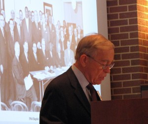 Religion 2-Dr. Bill Pitts giving presentation