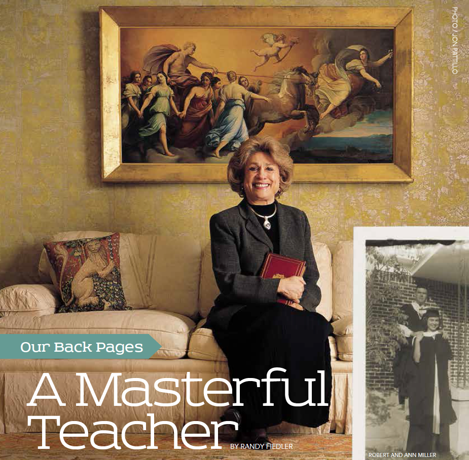 Baylor Arts & Sciences magazine, Fall 2015: Looking Back at Masterful Teacher Ann Miller