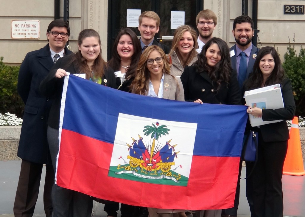 Students on Baylor's Model OAS Team represent Haiti at international conference