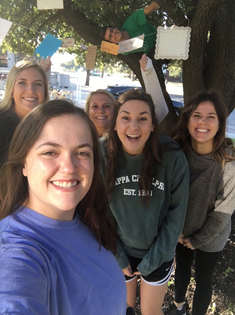 Castellaw calligraphy tree encourages students during Homecoming week