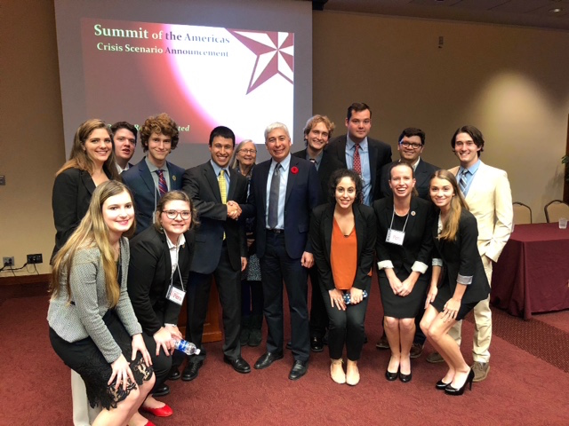 Baylor Students Win Honors Representing Belize and Peru at MOAS Conference