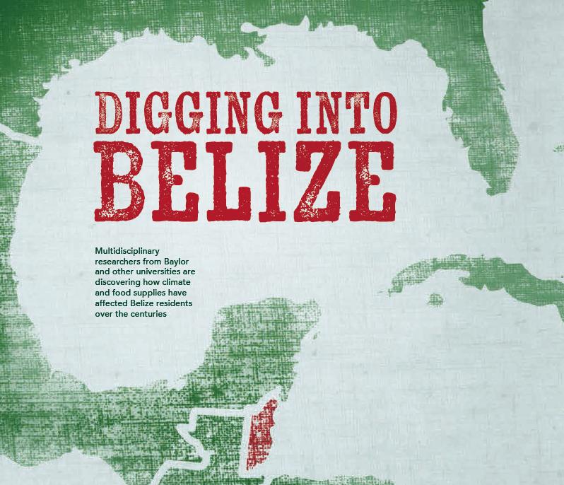 Baylor Arts & Sciences magazine: Digging into Belize