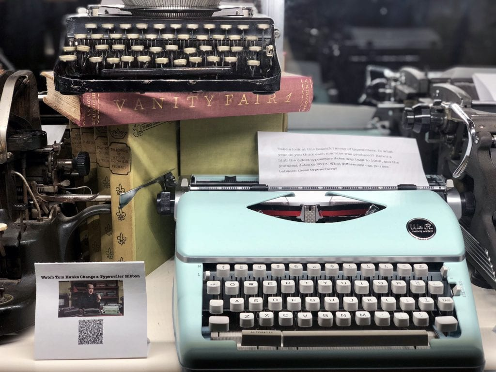 Exhibit Displays Baylor Student's Passion for Typewriters