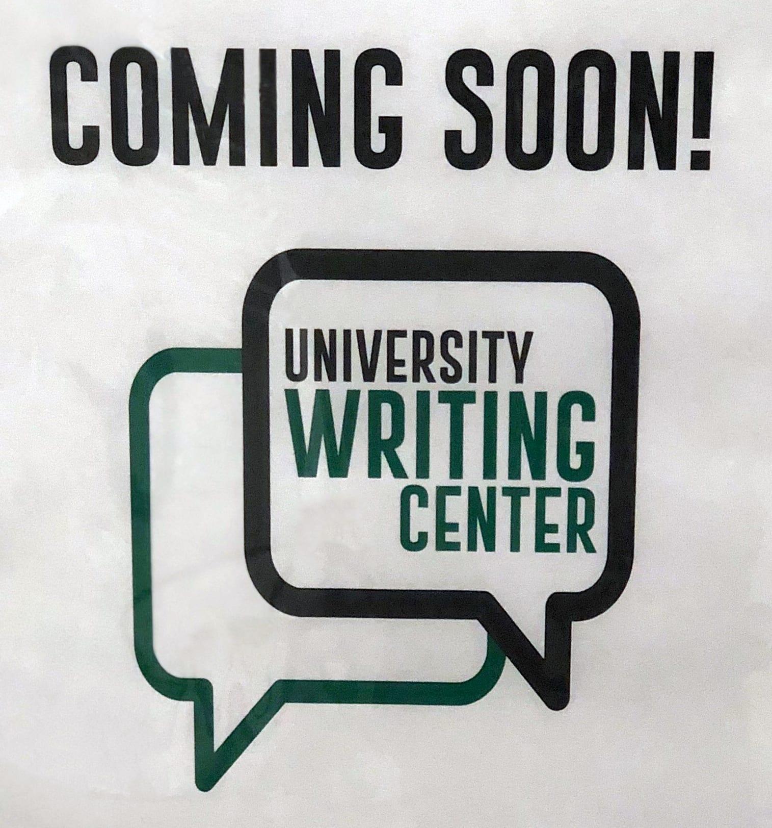Writing Center Sign