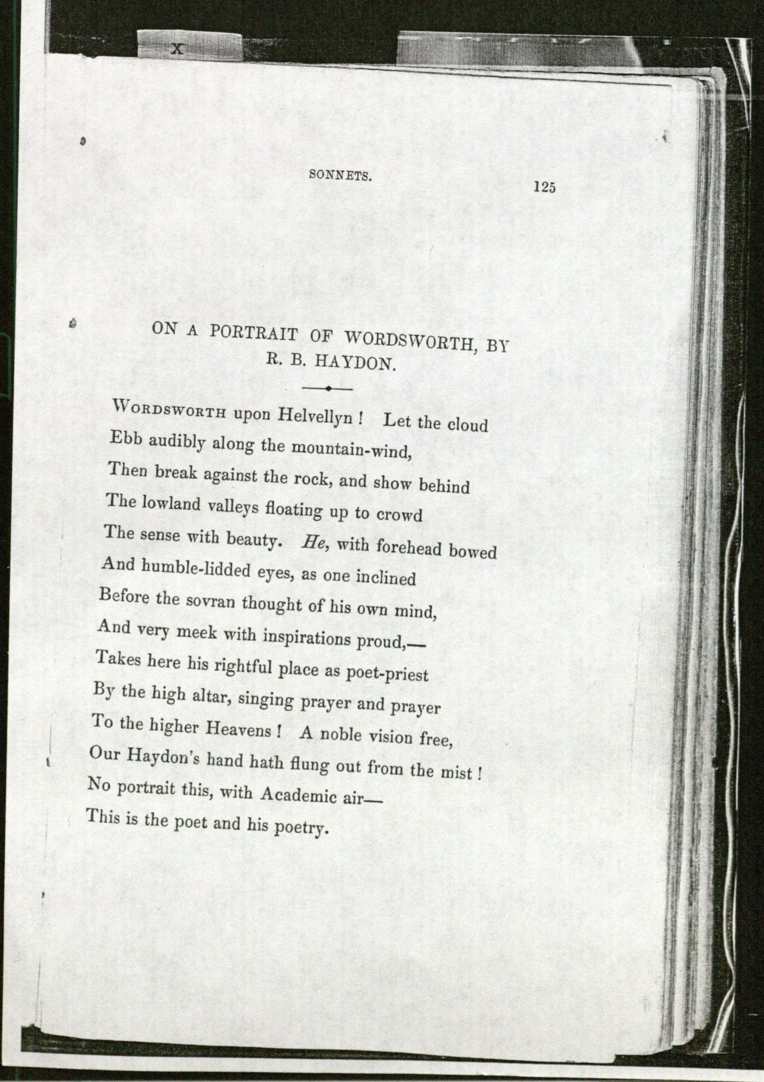 EBB-On a Portrait of Wordsworth, by R.B. Haydon