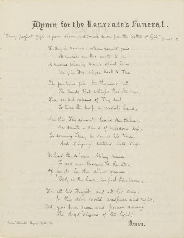 Scan of hymn