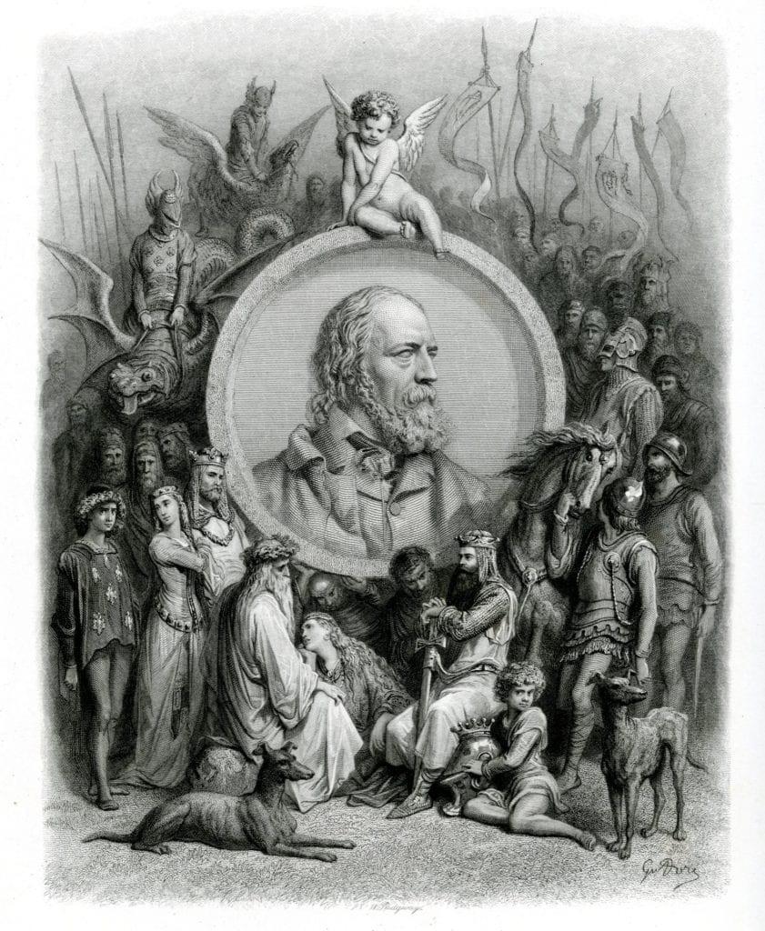 engraving of Tennyson