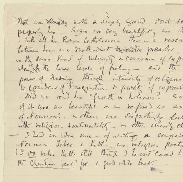 Image of Elizabeth's letter