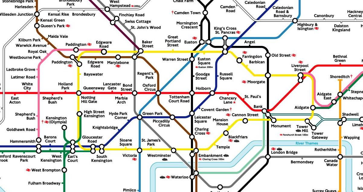 Blog 1 The People of London – Tube Map Central London