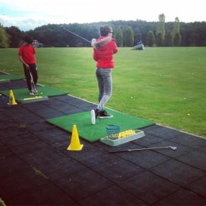 Paulina at golf!