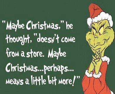 Wise words from the Grinch!