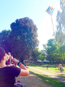 Let's fly a kite! Alex tried to fly a kite for the first time today! New challenges are always fun! Everything was going well until we spent an hour getting the kite out of a very tricky tree!