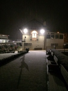The first snow in College du Leman!