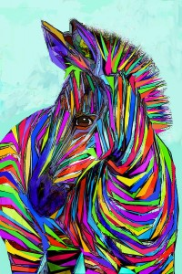 zebra pop art
