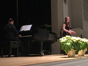 Bethany Bookout, soprano, performed Fleur jetée by Gabriel Fauré. Bethany studies voice with Professor Stacey Conner.