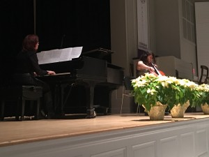 Chelsea Alvarado, cello, performed Song for Sienna by Brian Crain. She was accompanied by Paula Tuttle, piano.