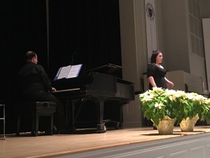Justine Barry, soprano, performed O del mio dolce ardor by Christoph Willibald Gluck. Justine studies voice with Professor Stacey Conner.