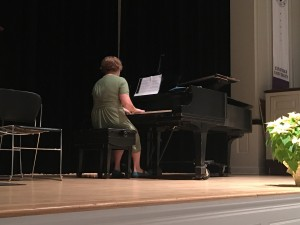 Mary Watt-Morse, piano, performed Gnossienne No. 1 by Erik Satie. She studies piano with Professor Pauline Rovkah and voice with Professor Stacey Conner.