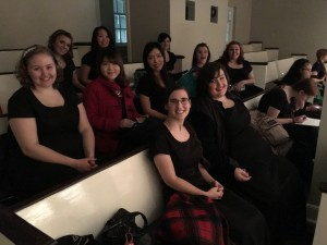 The Chatham Choir waits for the performance to begin