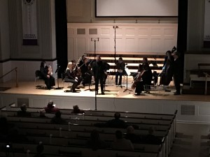 """Ryan McMasters introduces the world premier of his piece, """"On Light"""""""