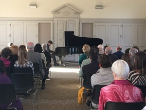 Mr. McNally performed Rachmaninoff's c# minor prelude and Op. 23 Preludes