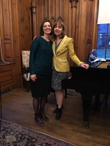 Katie Palumbo poses with Chatham Music faculty member Pauline Rovkah after the performance.